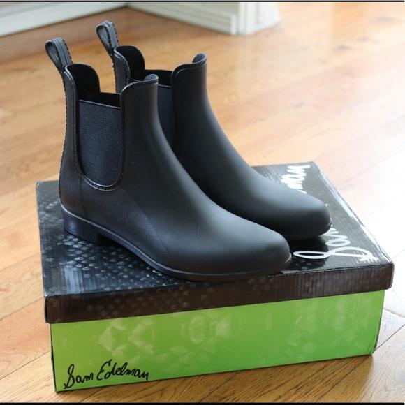 30b950468d622b Sam Edelman Black Matte Tinsley Rain Boots